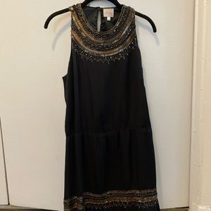 Parker Black & Gold Sequin Dress